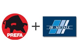 Prefa och IB-Metall ska bli starkare tillsammans