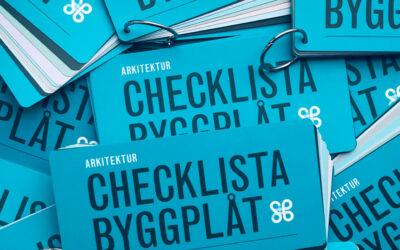 Hämta din checklista på Arkitekturgalan 2019